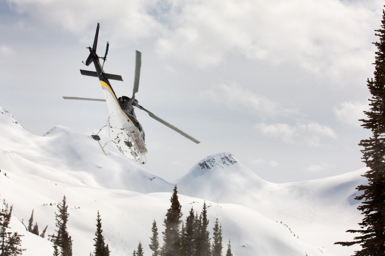 Helicopter, Skiing, Selkirks, Mountains.