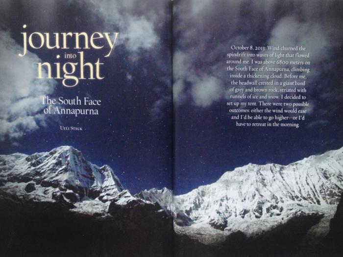 Alpinist, Magazine, Mountaineering, Uli Steck, Annapurna,