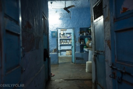 View inside of home in Jodhpur, Rajasthan.