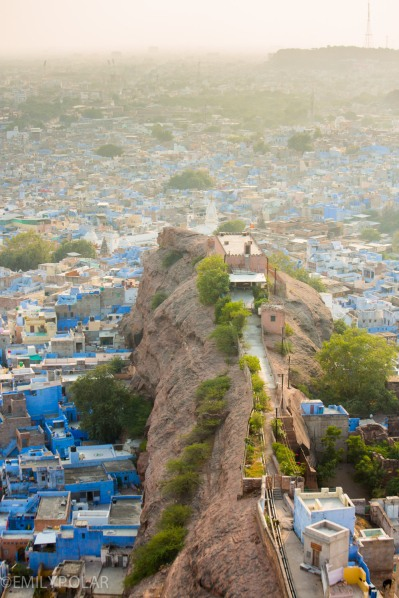 View of the blue city of Jodhpur from Mehrangarh Fort, Rajasthan.