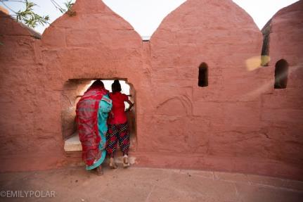 Indian kids hanging out at Mehrangarh Fort in Jodhpur, Rajasthan.