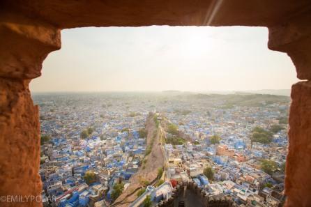 Aerial view of Jodhpur from Mehrangarh Fort in Rajasthan.