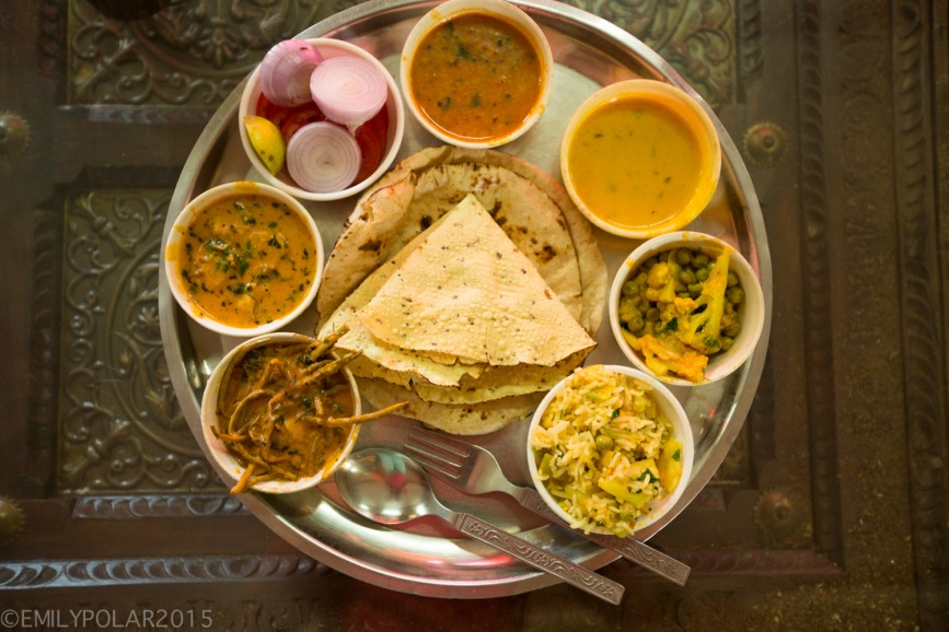 The best Veg Thali in Jaisalmer, Rajasthan.