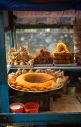 The best street cart Chat in Pokhara, Nepal. Indian food in the streets of Nepal.