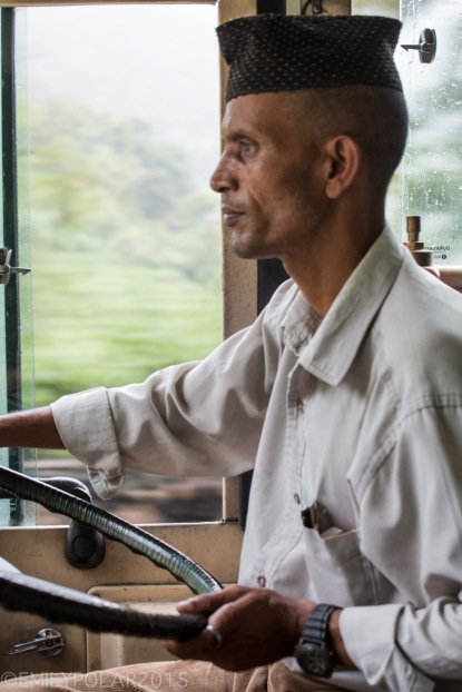 Nepali bus driver making it happen on the rainy road to Pokhara, Nepal.