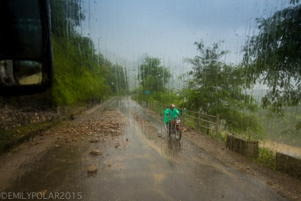 Heavy rains along the road to Pokhara cause landslides on the road in Nepal.