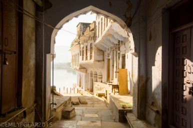 Architechture in the streets of Pushkar, Rajasthan.