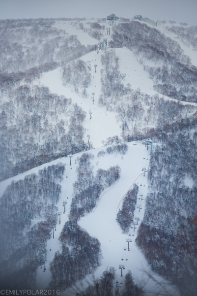 Kiroro Ski resort and chair lifts in Japan.
